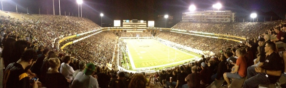 Pano of Sun Devil Stadium I made with my phone