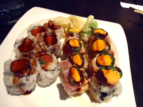 Spicy Tuna Roll & Ring of Fire Roll